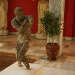 Corroded statue from the Antikythera shipwreck