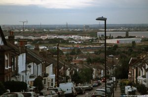 The view from Purrett Road, Plumstead, in Woolwich, Greenwich