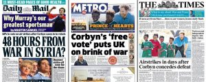 Newspapers with misleading headlines