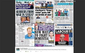 Newspapers on Corbyn