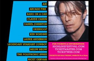 David Bowie curated the High Line Festival