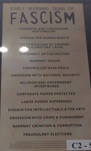 Photo of a Early Warning Signs Of Fascism poster by Sarah Rose