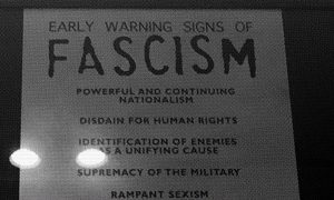 Detail from the Early Warning Signs Of Fascism poster